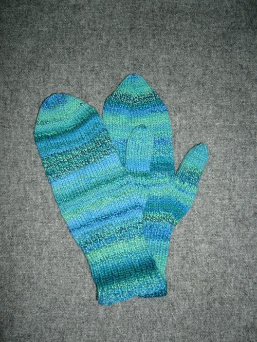 Handspun mittens