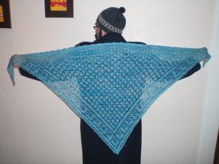 Stickad sjal till Roya